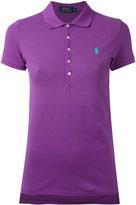Polo Ralph Lauren embroidered polo shirt - women - Cotton/Spandex/Elastane - M