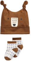 First Impressions 2-Pc. Bear Hat & Low-Cut Socks Set, Baby Boys (0-24 months), Only at Macy's