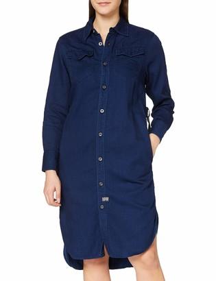 G Star Women's Tacoma Long Sleeve Shirt Straight Dress