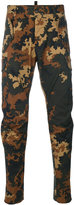 DSQUARED2 camouflage skinny trousers - men - Cotton/Spandex/Elastane - 46