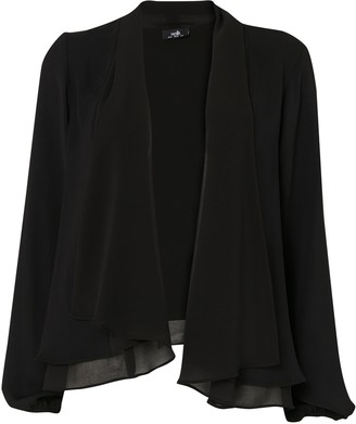 Wallis Black Chiffon Waterfall Jacket