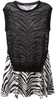 Ungaro zebra print flared dress