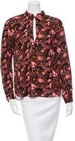 A.L.C. Silk Floral Print Top w/ Tags