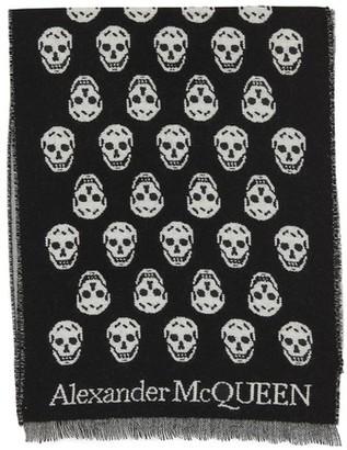 Alexander McQueen Skull reversible scarf