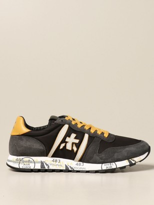 Premiata Eric Sneakers In Suede And Nylon