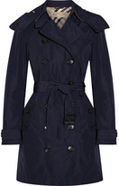Burberry Balmoral Packaway Hooded Shell Trench Coat - Storm blue