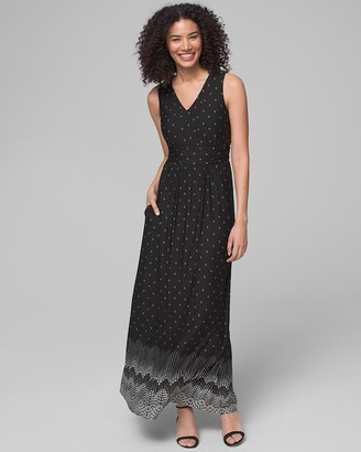 Soma Intimates V Neck Maxi Dress With Built-In Bra