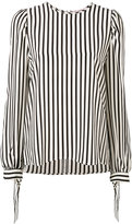 MSGM tied cuffs striped blouse - women - Silk - 40