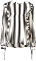 MSGM tied cuffs striped blouse