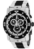 Jivago Titan JV9122XL Men's Round Black and Silver Stainless Steel Watch