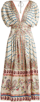 Etro Striped and paisley-print silk midi dress