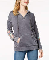 Style&Co. Style & Co Embroidered Hoodie, Created for Macy's