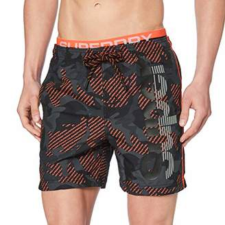 Superdry Men's State Volley Swim Short (Black Camo A)
