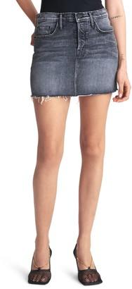 Mother The Vagabond Frayed Denim Miniskirt