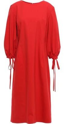 Oscar de la Renta Tie-detailed Stretch-cotton Poplin Dress