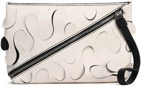 Proenza Schouler Zip-detailed Laser-cut Leather Pouch