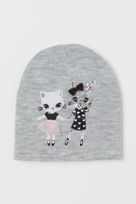 H&M Hat with Motif - Gray