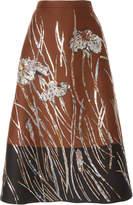 Rochas Bi Color Mikado Skirt