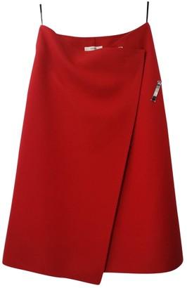Celine Red Wool Skirt for Women