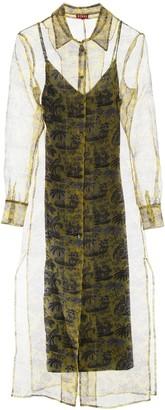 STAUD Sheer Shirt Maxi Dress