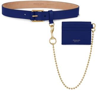 Michael Kors Leather Belt & Chain Wallet