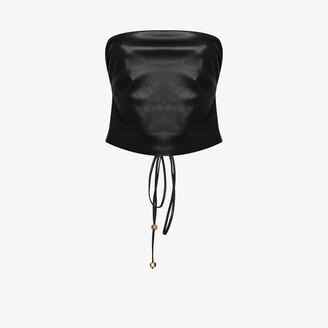 Nanushka Dahlia faux leather bustier top