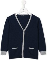 Il Gufo contrast trim cardigan - kids - Cotton/Polyamide/Wool - 2 yrs