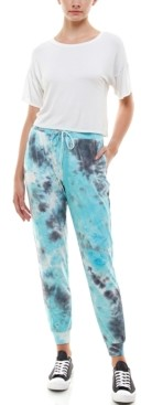 Derek Heart Juniors' Tie-Dyed Slim Jogger Pants
