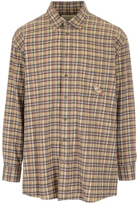 Gucci Chick Embroidered Check Shirt