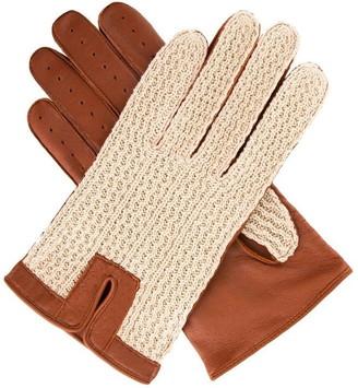 Dents Mens Crochet Back Drivng Glove
