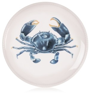 Fitz & Floyd Cape Coral Collection Crab Accent Plate