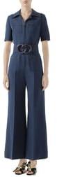 1acb24309c3 Gucci Blue Women's Wide Leg Pants - ShopStyle
