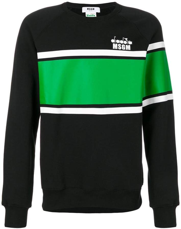 MSGM striped sweatshirt