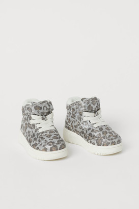 H&M Glittery Sneakers - Brown