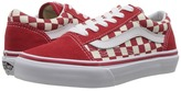 Vans Kids Old Skool Racing Red/White) Kid's Shoes