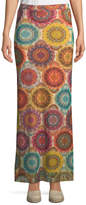 Fuzzi Kaleidoscope-Print Straight Maxi Skirt
