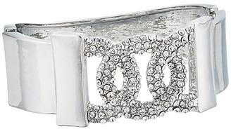GUESS Pave Frozen Link Hinge Bangle Bracelet (Silver) Bracelet