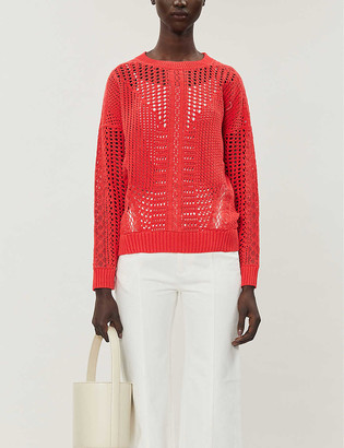 Maje Mazet cotton-knit jumper