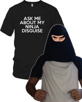Crazy Dog T-shirts Crazy Dog Tshirts Youth Ninja Face T Shirt Cool Ninja Disguise Funny Shirt for kids S