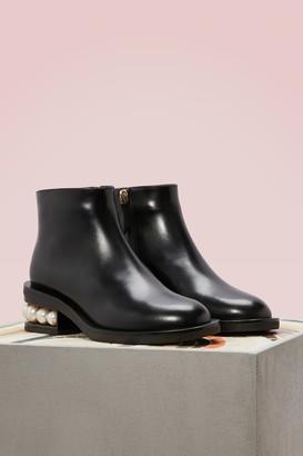Nicholas Kirkwood Casati Nappa Calfskin Leather Ankle Boots