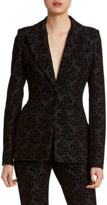 Altuzarra Paisley Jacquard Single-Breasted Blazer