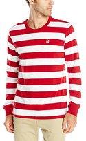 Obey Men's Eighty Nine Fat Stripe Long Sleeve T-Shirt