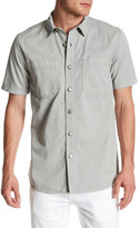 Topman Short Sleeve Denim Shirt