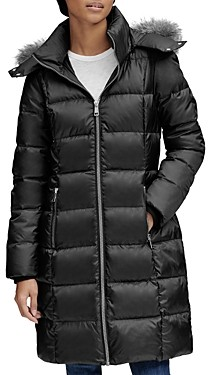 Andrew Marc Fur Trim Puffer Coat