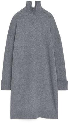 Arket High-Neck Knitted Dress