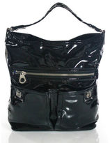 Marc by Marc Jacobs Black Patent Leather Totally Turnlock Faridah Handbag
