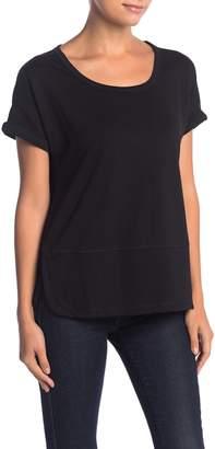 Catherine Malandrino Short Sleeve French Terry T-Shirt (Petite)
