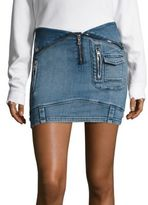 RtA Disele Denim Moto Skirt
