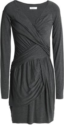 Bailey 44 Ruched Melange Stretch-jersey Mini Dress