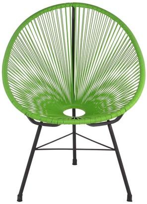 Joseph Allen Handmade Acapulco Green Basket Lounge Chair